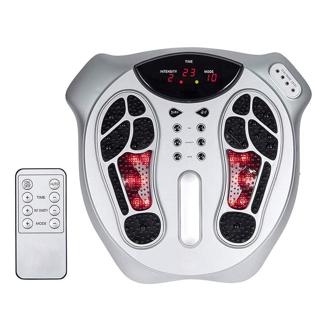 痛み世界の窓アナウンサー電気の 電気フットマッサージャーリモコン赤外線機能15種類のシミュレーション方法ローラー混練マッサージ用自宅 人間工学的デザイン, White