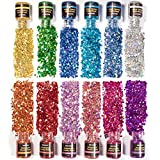 NODDWAY Holographic Chunky Glitter 12 Colors Total 180g, Chunky Sequins Iridescent Flakes, Ultra-Thin Sparkles...