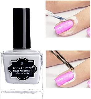 Born Pretty Nail Art Latex Tape Peel Off Liquid Nail Polish Barrier Black Nail Base Color manicuring Collection (nailrier)