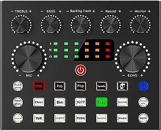 PWV متعدد الوظائف الصوت بطاقة الصوت تأثير لوحة مع خلاط لتدفق حزم وسائل الإعلام لمعدات البث المباشر دفق وسائل الإعلام