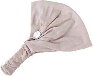 FD Izmn Solid Hairband Button Face Veil Holder Wearing Protect Ears Head Wrap Outdoor Turban Dust Cover Safety Wrap Cap