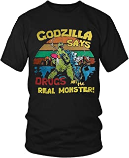 godzilla says drugs are the real monster shirt