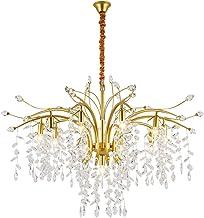 Na moderne ijzeren led luxe kristal kroonluchter lamp apparaten villa leven kristal diameter 115cm * 70 cm hoog (kleur: zw...