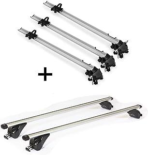 Barres de Toit CRV107A Compatible avec Peugeot 508 SW VDP BA320 Coffre de Toit Aspect Carbone 508 rXH /à partir de 2011