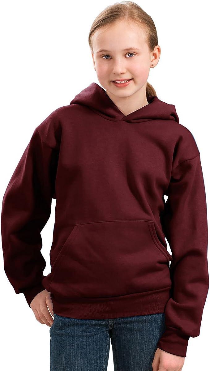 Port & Company Boys' Pullover Hooded Sweatshirt S Maroon