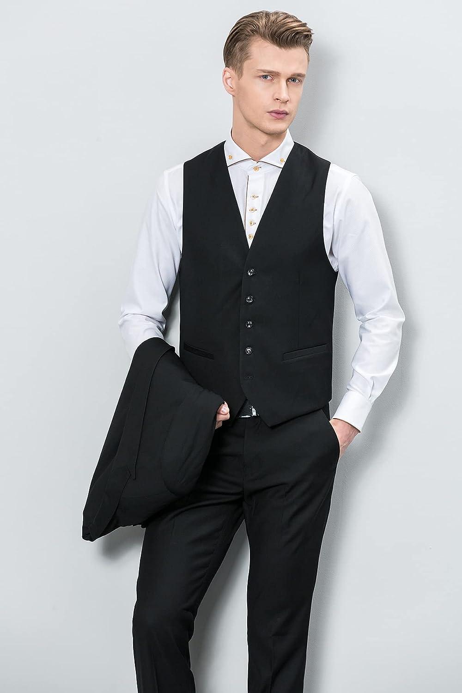 DIAOD Windsor Collar Summer White Shirts Men's Spring Long Sleeve Cotton Business Gentleman Slim Cufflinks Dress Shirt Korean Style (Color : Purple, Size : 41 Code)