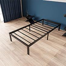 إطارات سرير مزدوجة عالية التحمل من زييوو، 35.56 سم، تصميم غير منزلق، كريم أساس مقوى لمرتبة دعم الفرش، خالٍ من الضوضاء الهادئة