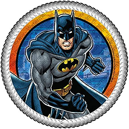 10 edible SUPER HERO INSPIRED cake topper CUPCAKE DECORATIONS batman superman