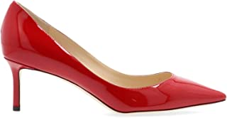 JIMMY CHOO Women's ROMY60PATRED Red Leather Pumps