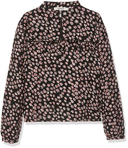 Garcia Kids Mädchen H92633 Bluse, Mehrfarbig (Off Black 1755), 140 (Herstellergröße: 140/146)