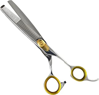 "Sharf Gold Touch Pet Shears, 6.5"" 42-Tooth Thinning Shear for Dogs, 440c Japanese.."