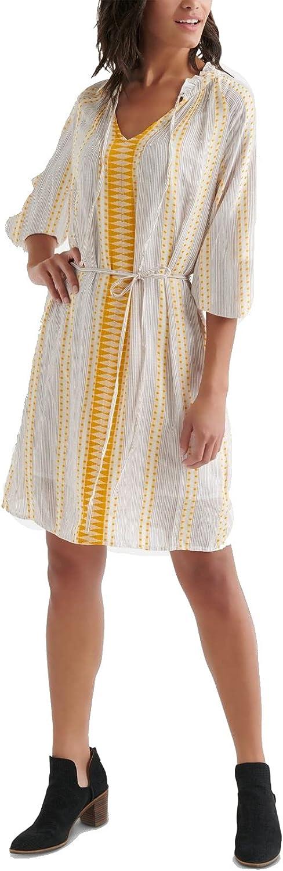 Lucky Brand Women's Yarn Dyed Peasant Dress