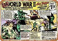 2個 20*30CMメタルサイン-1969126第二次世界大戦の兵士が1.24ドル