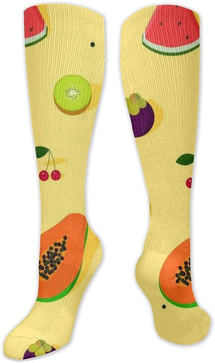 Cartoon Fruits Knee High Socks Leg Warmer Dresses Long Boot Stockings For Womens Cosplay Daily Wear