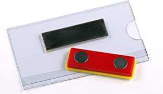 OPUS 2 Porte-badge avec aimant, 75x40mm, 121267, Lot de 24