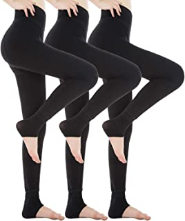 3 Pack Fleece Lined Leggings Thick Soft Stretchy Slimming Winter Warm Leggings