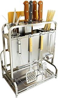 Dxbqm Support de Rangement de Cuisine Organisateur de Stockage, étagère de Rangement de Cuisine Multifonction Domestique e...