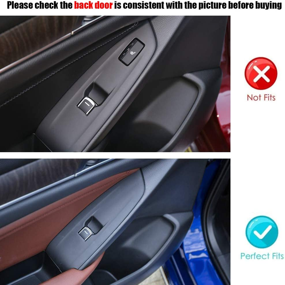 RED XITER 4pcs ABS Engineering Plastic Car Interior Automobile Door Window Control Panel Cover Molding Door Lock Switch Trim Accessories For Honda Accord 2018 2019 2020