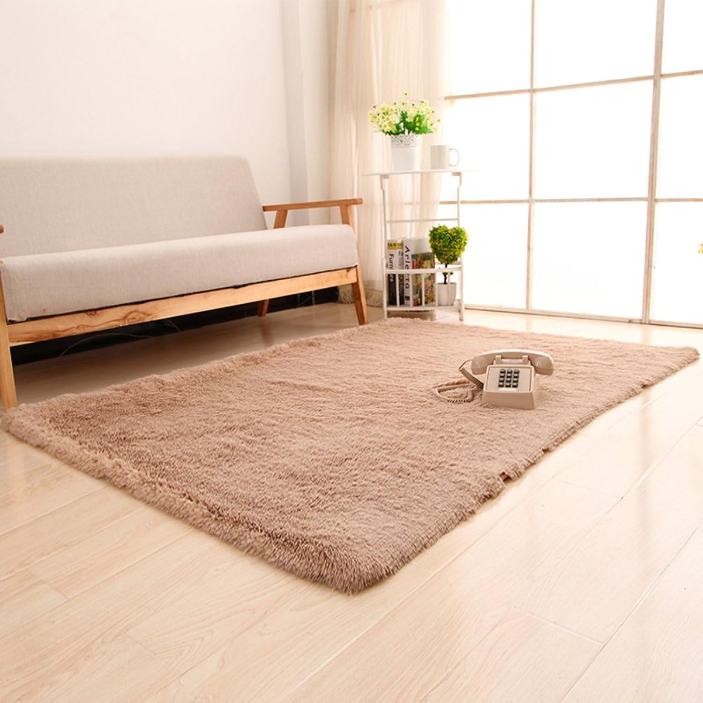 Silk Wool Thicken Blanket Bedroom Living Room Bedside Blanket Dirty Resistant Mat Non-Slip Water-Absorbing Mat-O 140x200cm(55x79inch)