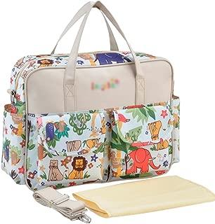 EVEOUT Bolso de la mochila del pa/ñal del beb/é con el dise/ño abierto de par en par mochila de viaje impermeable multifuncional de la mochila que cambia del panal unisex para el pap/á de la mam/á