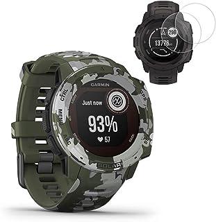 Garmin Instinct Solar GPS Smartwatch Camo Edition(010-02293-16) w/ 2X Screen Protectors