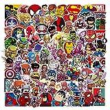 Juego de 100 Pegatinas de Superhéroes Marvel Vinilos para niños,Pegatinas de Coche para Snowboard, Laptop,teléfono Mac, Equipaje, Pegatinas de Graffiti Parches