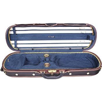 Estuche para violín madera Tonareli 4/4 DELUXE VNDLUX1002 AZUL MARINO - VENDEDOR AUTORIZADO: Amazon.es: Instrumentos musicales