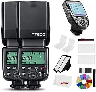 Godox TT600 - Flash inalámbrico para cámara fotográfica 24 G GN60 con disparador integrado Speedlite para Canon Nikon Pentax Olympus y Fujifilm