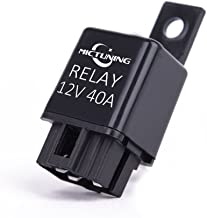 MICTUNING LED Light Bar Work Light Wiring Harness Relay 40 Amp