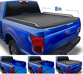 Tyger Auto T2 Low Profile Roll-Up Truck Tonneau Cover TG-BC2F2075 Works with 2008-2016 Ford F-250 F-350 F-450 Super Duty | Styleside 8' Bed