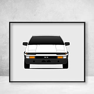 toyota ae86 poster