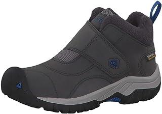 KEEN Unisex-Kid's Kootenay II WP Hiking Boot, Magnet/Baleine Blue, 12 M US Little Kid