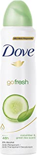 Dove Go Fresh Cucumber & Green Tea Deodorant 48h Spray 150 ml / 5 fl oz (6-Pack)