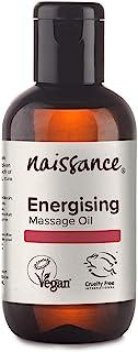 Naissance Energising Massage Oil 100ml - 100% Natural Blend of Grapeseed Oil met Vetiver, Lemongrass, Nutmeg & Black Peppe...