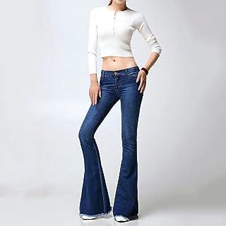Brilliant firm Europa y Estados Unidos Pantalones Vaqueros Lavados Pantalones a la Moda alejados Botines Grandes (Color : ...