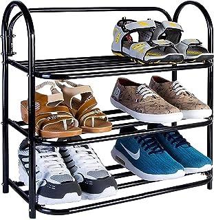 KSP HOME Heavy Metal Home Utility Foldable Shoe Rack 3 Shelves Durable and Multipurpose Shoe Rack/Shoe Stand/Shelf Book St...