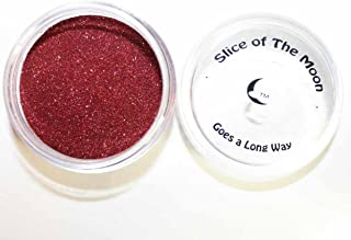 Slice Of The Moon: Red Solvent Resistant Glitter Powder 20g – Cosmetic Grade for Lipstick Lip Gloss Bath Bombs Epoxy Resin Face Blush Powder Eye Pencil Dye Pigments