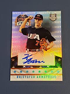 Baseball MLB 2015 Panini Stars and Stripes Crusade Gold #60 Kristofer Armstrong NM Near Mint 2/25