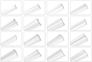 HEXIM O 2 meter plafondlijsten van piepschuim XPS - hoogwaardige stuclijsten licht en robuust in modern design - (ZG1-15 x...
