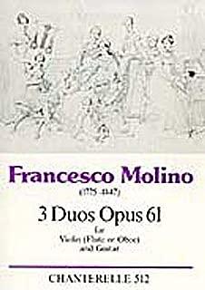 MOLINO F. - DUOS (3) V o (FL u OB) Y G- OP.61