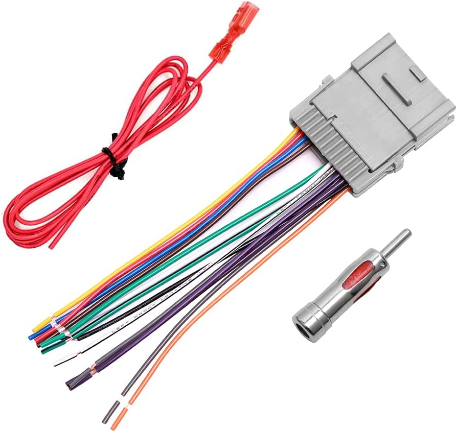 buy car stereo radio wiring harness antenna adapter for buick chevy gmc  pontiac online in turkey. b07m72p5jx  best online shopping at ubuy turkey