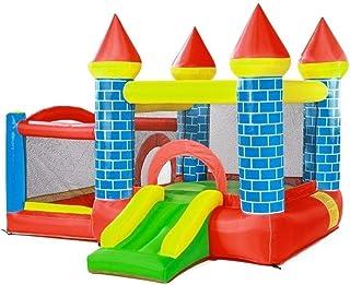 Castillo inflable Gran Castillo Hinchable Parque Infantil Jardín Trampolín Inflable Tobogán Inflable para Niños Equipamiento De Parque De Atracciones para Niños