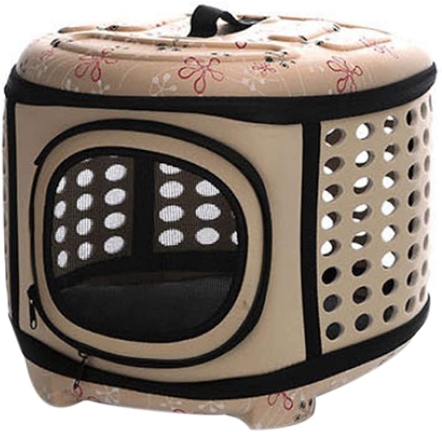 08d199e8b682 PUAO Collapsible Hard Cover Sturdy Pet Travel Carrier, Portable Lightweight  Pet Kennel EVA Travel Bags Transporter Airline Approved Animal Crate Cage  ...