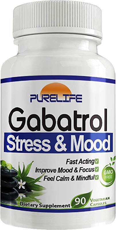PureLife Gabatrol Fast Acting Stress And Mood Formula 90 Capsules Helps Improve Mental Focus And Clarity Promotes Relaxation GMO Free By Purelife