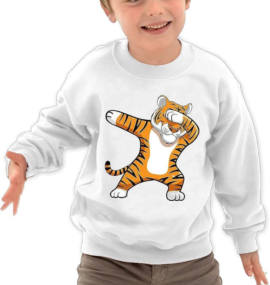 Babyruning Dabbing Tiger Unisex Kids Cotton Pullover Comfortable Long Sleeve Tops