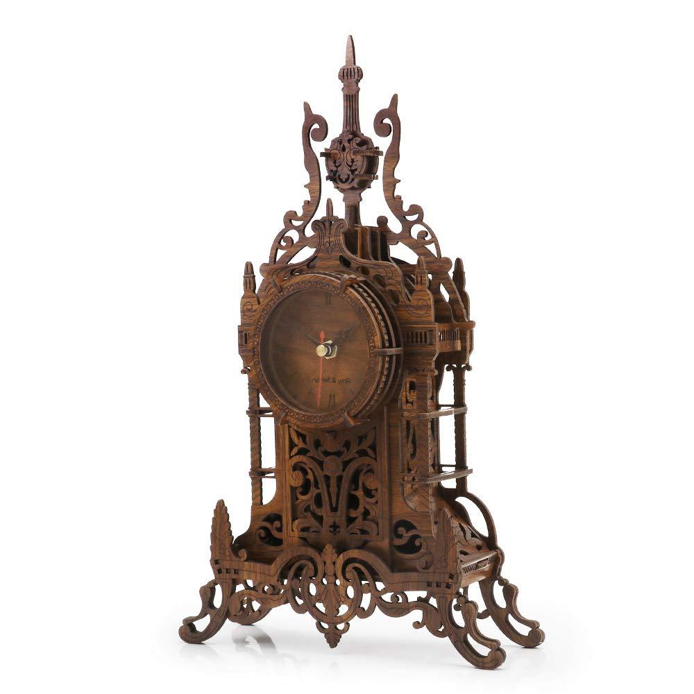 nicknack Wooden Clock Laser Christmas Birthday