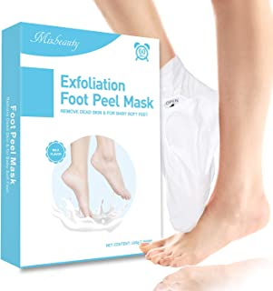 Mixbeauty Foot Peel Mask 2 Pack Exfoliating Foot Masks Remove Dead Skin Moisturizing Foot Mask Treatment for Cracked Heels...