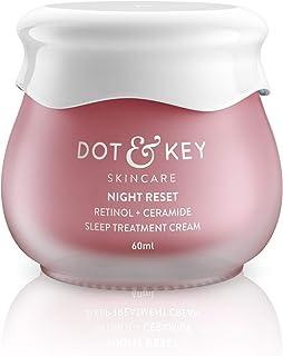 Dot & Key Night Reset Retinol + Ceramide Sleep Treatment Cream, 60ml, retinol night cream for women for wrinkles, lines an...