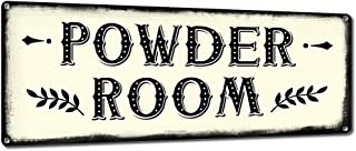 Powder Room, 6 x 16 Inch Metal Farmhouse Sign, Rustic Vintage Wall Decor for Home, Restaurant, Diner, Coffee Shop, Farm Theme Gifts for Farmers, Ranchers, Animal Lovers, Housewarming, RK3116 6x16