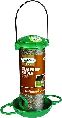 2 x Gardman Black Metal Steel Seed Wild Bird Hanging Garden Feeder A01172